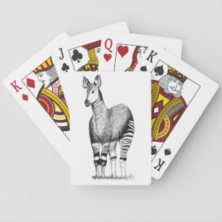 Jeu De Cartes Cartes de jeu d'art d'okapi