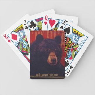 Jeu De Cartes Cartes de jeu d'art d'ours noir