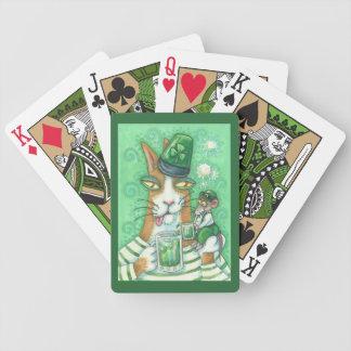 JEU DE CARTES CARTES DE JEU DE BICYCLETTE DE CAT DE N FITZ DE
