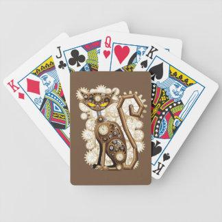 Jeu De Cartes Cartes de jeu de bicyclette de chat de Steampunk