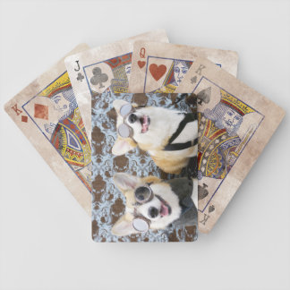Jeu De Cartes Cartes de jeu de bicyclette de Corgis de Steampunk