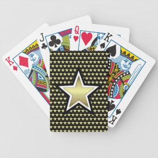 Jeu De Cartes Cartes de jeu de bicyclette d'or et d'étoile de