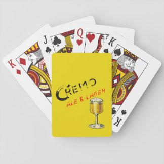 Jeu De Cartes Cartes de jeu de bière de bière anglais de Cremo