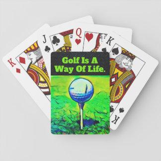 Jeu De Cartes Cartes de jeu de citation de golf