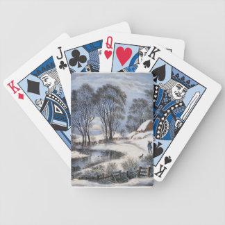 Jeu De Cartes Cartes de jeu de clair de lune d'hiver