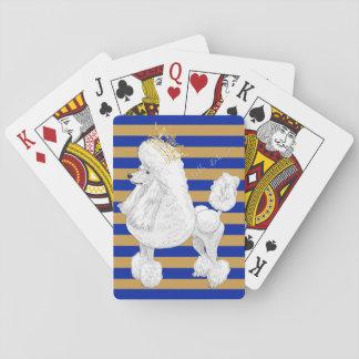 Jeu De Cartes Cartes de jeu de comportement de caniche