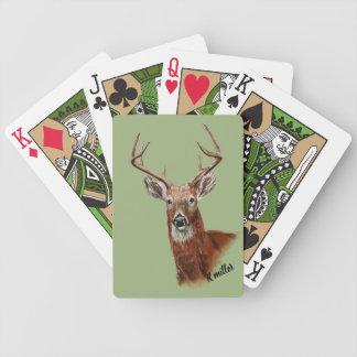 Jeu De Cartes Cartes de jeu de dessin de cerfs communs