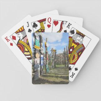 Jeu De Cartes Cartes de jeu de forêt de signe du Yukon