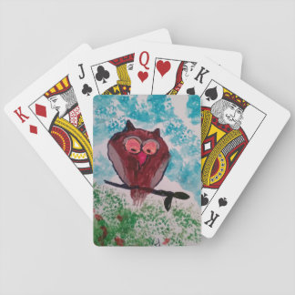 Jeu De Cartes Cartes de jeu de hibou de Brown