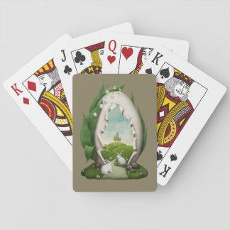 Jeu De Cartes Cartes de jeu de lapins d'oeuf de pâques