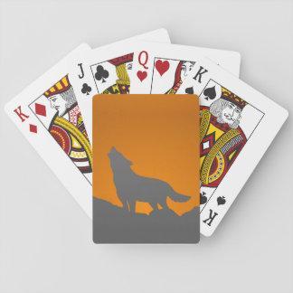 Jeu De Cartes Cartes de jeu de loup d'hurlement