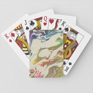 Jeu De Cartes Cartes de jeu de peinture d'arc-en-ciel