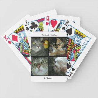 Jeu De Cartes Cartes de jeu de pétales et de plume et d'amis