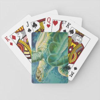 Jeu De Cartes Cartes de jeu de tortue de mer verte