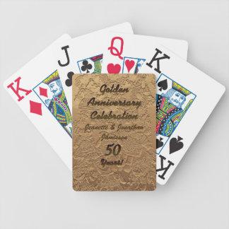 Jeu De Cartes Cartes de jeu d'or de célébration d'anniversaire
