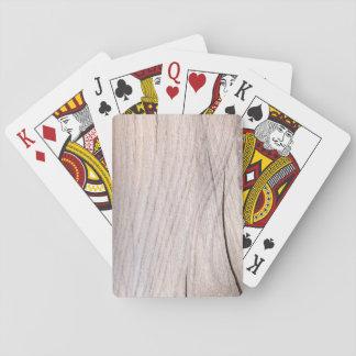 Jeu De Cartes Cartes de jeu en bois de grain