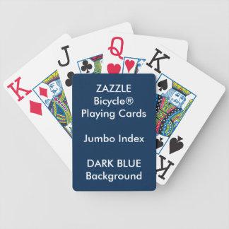 Jeu De Cartes Cartes de jeu enormes faites sur commande BLEUES