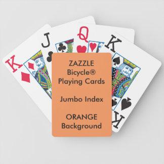Jeu De Cartes Cartes de jeu enormes faites sur commande ORANGES