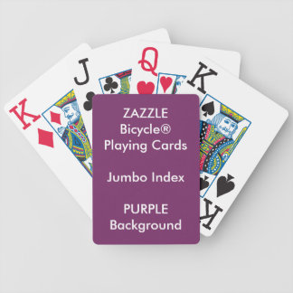 Jeu De Cartes Cartes de jeu enormes faites sur commande POURPRES