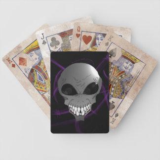 Jeu De Cartes Cartes de jeu étrangères grises de tisonnier de