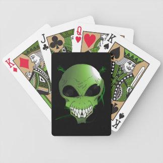 Jeu De Cartes Cartes de jeu étrangères vertes de tisonnier de