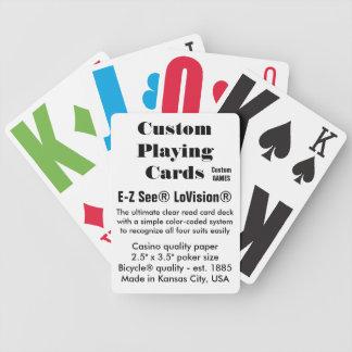 Jeu De Cartes Cartes de jeu faites sur commande de Bicycle® -