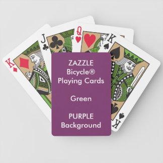 Jeu De Cartes Cartes de jeu faites sur commande POURPRES de vert
