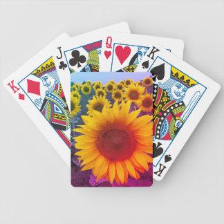 Jeu De Cartes Cartes de jeu florales lumineuses de tournesols