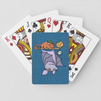 Jeu De Cartes Cartes de jeu grognonnes de Halloween de chat de
