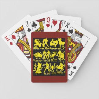 Jeu De Cartes Cartes de jeu marron blanches de jeu de zodiaque 5