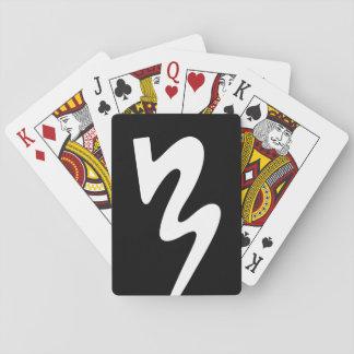 Jeu De Cartes Cartes de jeu noires et blanches de logo de BMB
