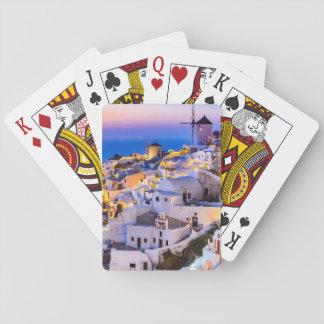 Jeu De Cartes Cartes de jeu Oia Santorini Grèce