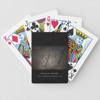 Jeu De Cartes Cartes de jeu personnalisables de monogramme en