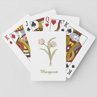 Jeu De Cartes Cartes de jeu personnalisées de tulipe