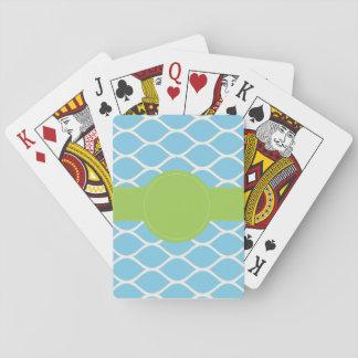 Jeu De Cartes Cartes de jeu personnalisées de vert bleu