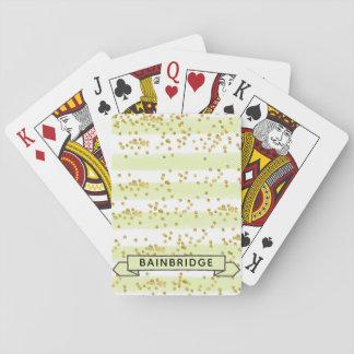 Jeu De Cartes Cartes de jeu personnalisées par confettis à la