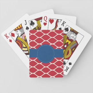 Jeu De Cartes Cartes de jeu personnalisées par marine rouge