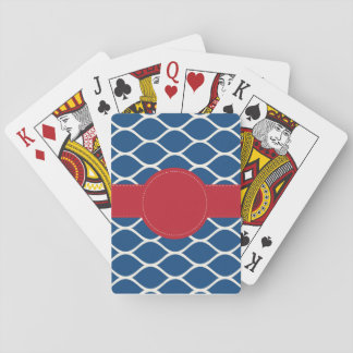 Jeu De Cartes Cartes de jeu personnalisées par rouge de marine