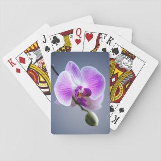 Jeu De Cartes Cartes de jeu pourpres d'orchidée - beau floral