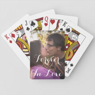 Jeu De Cartes Cartes de jeu romantiques de jour d'amour ou de