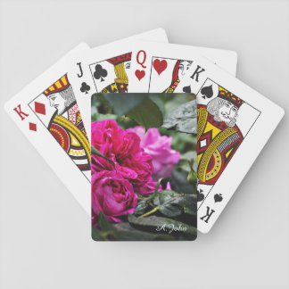 Jeu De Cartes Cartes de jeu roses de fleur de pivoine