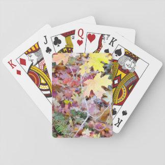 Jeu De Cartes Cartes de jeu sauvages d'érables du Nouveau