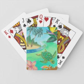 Jeu De Cartes Cartes de jeu tropicales de tortue de mer