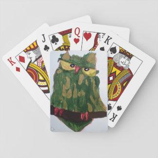 Jeu De Cartes Cartes de jeu vertes de hibou