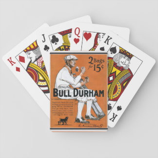 Jeu De Cartes Cartes de jeu vintages d'annonce de Taureau Durham
