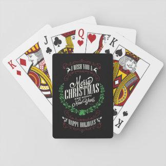 Jeu De Cartes Cartes de typographie/de jeu de Noël/Joyeux Noël