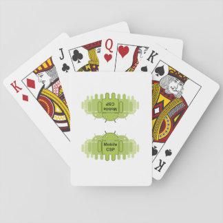 Jeu De Cartes Cartes mobiles de logo de la Communauté de CSP