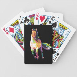 Jeu De Cartes Cavalier courant coloré d'étalon de cheval