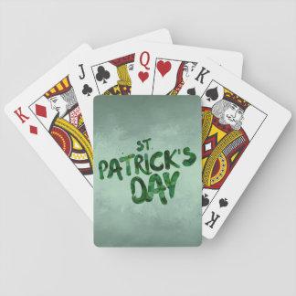 Jeu De Cartes Celtic irlandais de trèfle de vert du jour de St
