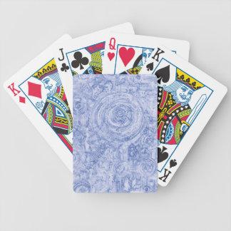 Jeu De Cartes Cercles bleus et blancs